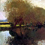 A Backwater at Calcot Near Reading, John Singer Sargent