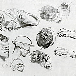 Heads, Hands, and Figure, John Singer Sargent