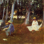 Claude Monet Painting by the Edge of the Woods, John Singer Sargent