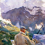 John Singer Sargent - Artist in the Simplon