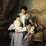 John Singer Sargent - Mrs. Arthur Knowles and her Two Sons