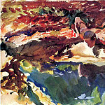 Figure and Pool, John Singer Sargent