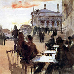 Cafe on the Riva degli Schiavoni, John Singer Sargent