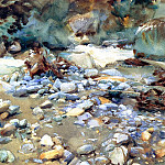 John Singer Sargent - Purtud, Bed of a Glacier Torrent