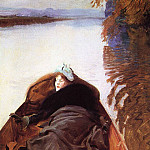 John Singer Sargent - Autumn on the River (also known as Miss Violet Sargent)