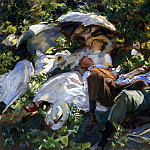 Group with Parasols , John Singer Sargent