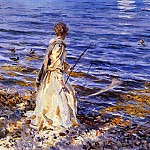 Girl Fishing, John Singer Sargent