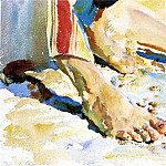 Feet of an Arab, Tiberias, John Singer Sargent