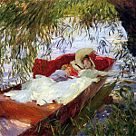 John Singer Sargent - Two Women Asleep in a Punt under the Willows
