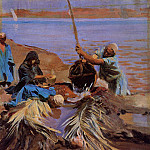 Egyptians Raising Water from the Nile, John Singer Sargent