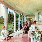 On the Verandah, John Singer Sargent