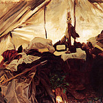 John Singer Sargent - Inside a Tent in the Canadian Rockies