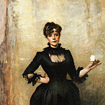 John Singer Sargent - Louise Burckhardt (Lady with a Rose)