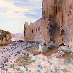 Fortress, Roads and Rocks, John Singer Sargent