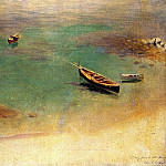 A Boat in the Waters off Capri, John Singer Sargent