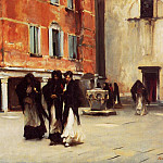 Leaving Church, Campo San Canciano, Venice, John Singer Sargent