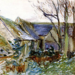 John Singer Sargent - Cottage at Fairford, Gloucestershire