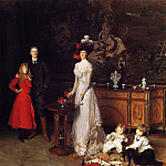 Sir George Sitwell, Lady Ida Sitwell and Family, John Singer Sargent