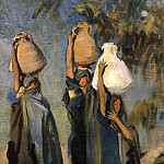 Bedouin Women Carrying Water Jars, John Singer Sargent