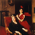 John Singer Sargent - Mrs. Edward Burckhardt and her Daughter Louise