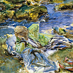 Turkish Woman by a Stream, John Singer Sargent