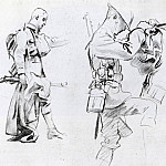 Two studies for soldiers of Gassed, John Singer Sargent