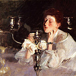 Lady with Cancelabra or The Cigarette, John Singer Sargent