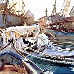 Sketching on the Giudecca, John Singer Sargent