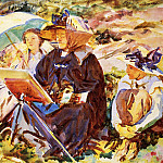John Singer Sargent - Simplon Pass. The Lesson