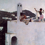 Capri Girl on a Rooftop, John Singer Sargent