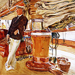 On the Deck of the Yacht Constellation, John Singer Sargent