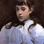 John Singer Sargent - Young Girl Wearing a White Muslin Blouse