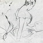 Two studies for Madame X, John Singer Sargent