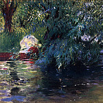 A Backwater, Calcot Mill near Reading, John Singer Sargent