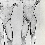 John Singer Sargent - Torsos of two male nudes