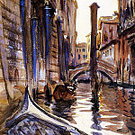 Side Canal in Venice, John Singer Sargent
