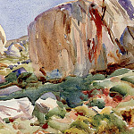 The Simplon. Large Rocks, John Singer Sargent
