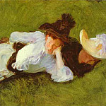 Two Girls on a Lawn, John Singer Sargent