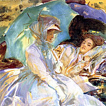 Simplon Pass. Reading, John Singer Sargent