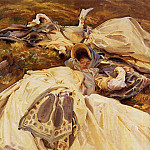 Two Girls in White Dresses, John Singer Sargent