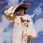 A Gust of Wind. Mrs. Violet Ormond , Artists Sister, John Singer Sargent
