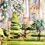 John Singer Sargent - A Palace and Gardens, Spain