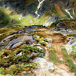 John Singer Sargent - Simplon Pass. The Foreground