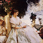 In the Garden, Corfu, John Singer Sargent