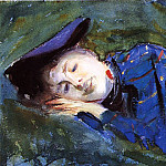 John Singer Sargent - Violet Resting on the Grass