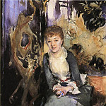 Miss Reubell Seated in Front of a Screen, John Singer Sargent