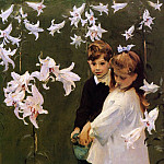 John Singer Sargent - Garden Study of the Vickers Children
