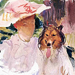 Woman with Collie, John Singer Sargent
