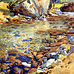 John Singer Sargent - Brook among the Rocks