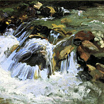 John Singer Sargent - A Mountain Stream, Tyrol